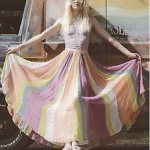 The In Crowd rainbow maxi skirt Free People